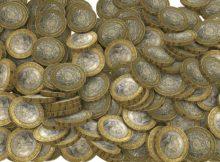 rozsypane mince